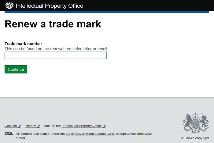 Renew a trademark