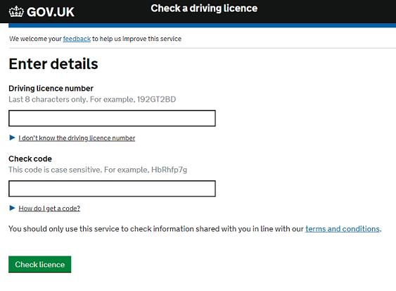 check licence